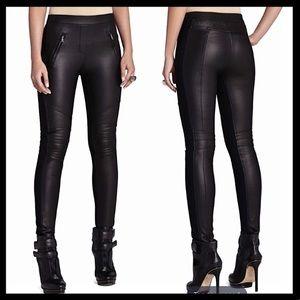 BCBG MAXAZIRA Black Moto leggings